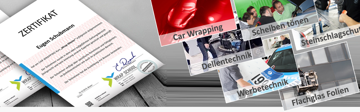 car wrapping schulungen kurse t nungsfolien seminare. Black Bedroom Furniture Sets. Home Design Ideas