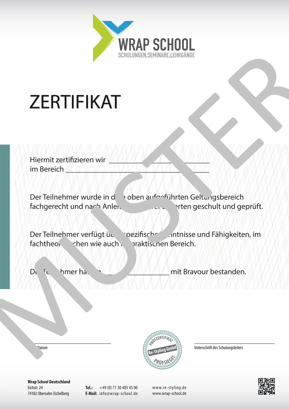 zertifizierung als car wrapper scheibent ner zertifikat in de at ch. Black Bedroom Furniture Sets. Home Design Ideas